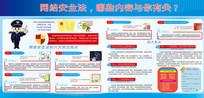 网络安全法展板设计