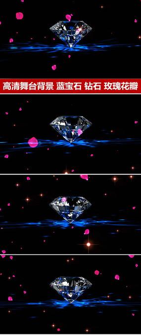 唯美婚礼背景钻石婚礼动态视频