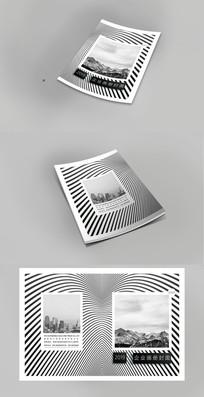 抽象现代企业宣传画册封面设计