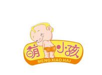 儿童母婴可爱超萌小孩卡通标志 CDR