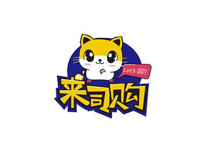 购物网购网店可爱小猫卡通标志