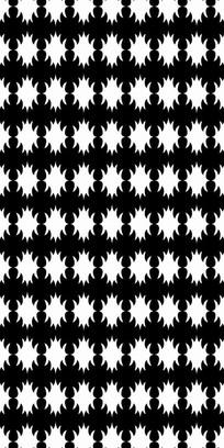 黑白花纹图案