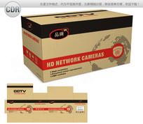 简约牛皮纸监控摄像机包装设计