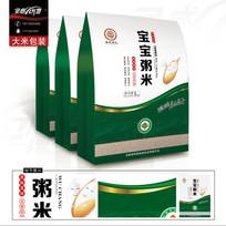 绿色粥米包装设计