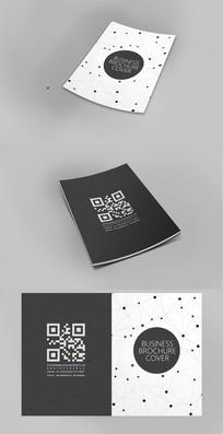 现代点线面企业宣传画册封面