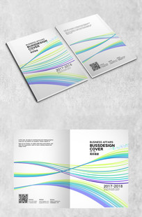 彩色弧线科技封面