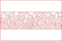 抽象麦穗移门图案