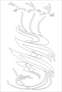 抽象图雕刻图案