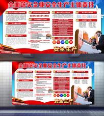大气安全生产宣传栏展板设计
