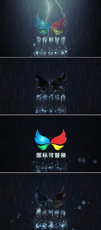 电闪雷鸣企业标志展示ae模板