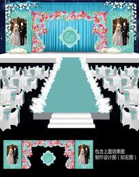蒂芙尼花卉拱门舞台背景