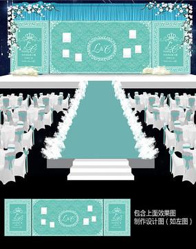 蒂芙尼欧式婚礼舞台背景