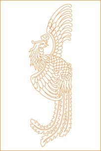 凤凰于飞雕刻图案