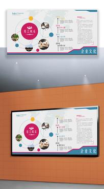 简洁大气企业文化展板背景墙