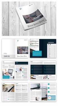 简洁企业报告画册模板