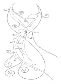 交枝雕刻图案