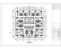 酒店客房塔楼标准层平面图 dwg