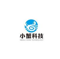 蓝色螃蟹与E组合简约标志 CDR