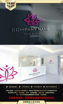 瑜伽莲花女性品牌LOGO设计