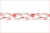 欧式勾线小花叶移门图案