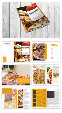 披萨美食店画册模板
