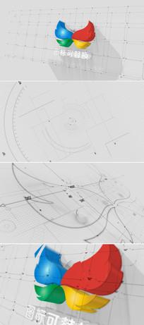 三维建筑图纸绘制标志模板