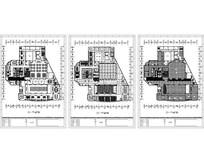 商务会议型酒店三层总平顶地图