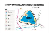 神木市红碱淖比赛路线图 CDR