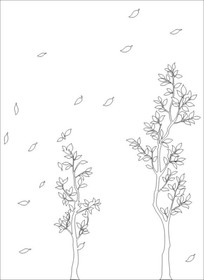 树枝雕刻图案