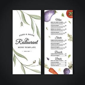 休闲主题餐厅菜单设计