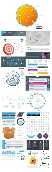 网页信息图ui组件元素素材