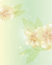 唯美花朵星光移门装饰画