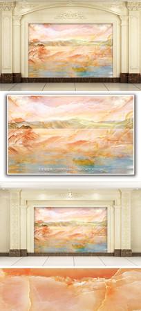 五彩斑斓风景大理石纹背景墙 TIF