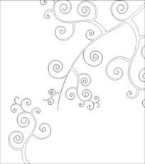 芜花雕刻图案