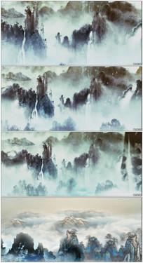 中国风古典山水画面舞台素材