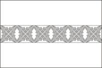 中式典雅花纹移门图案 CDR