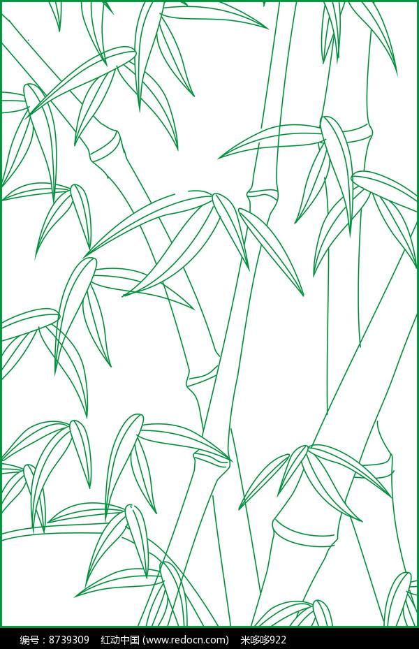 竹子雕刻图案图片
