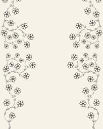 花朵花边花藤移门装饰画