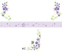 花朵花边线条花纹移门装饰画