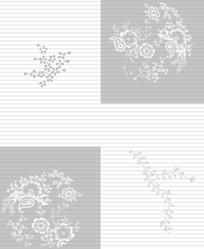 花朵花纹条纹移门装饰画