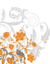 花卉底纹移门装饰画