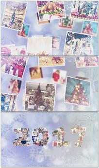 圣诞图片拼接视频模板