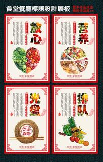 食堂餐厅标语文化展板