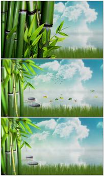 中国风竹林视频模板 aep