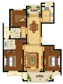 PSD分层住宅高端户型图  PSD
