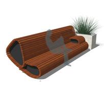 创意木坐凳su模型