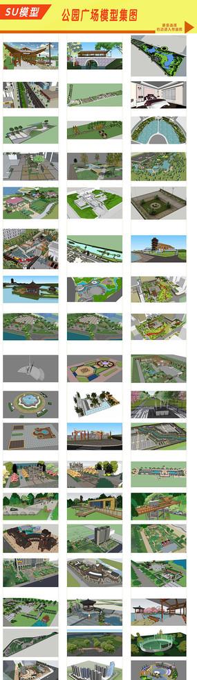 广场文化建筑景观模型