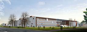 教学楼建筑外观效果图