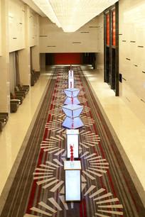 酒店走廊过道雕塑意向图