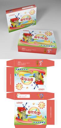 拼装彩绘玩具模型包装盒